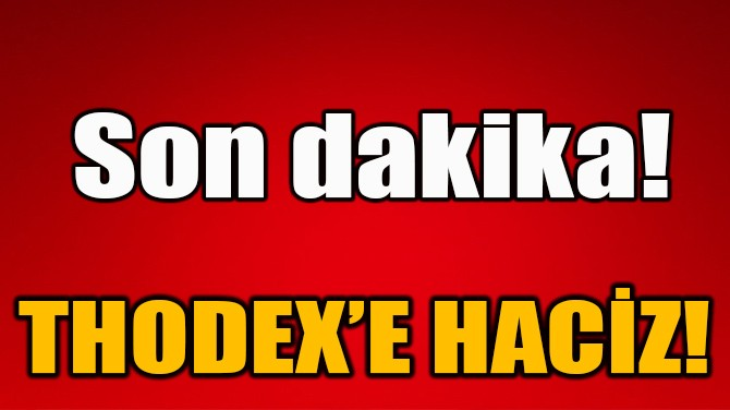 THODEX'E HACİZ!