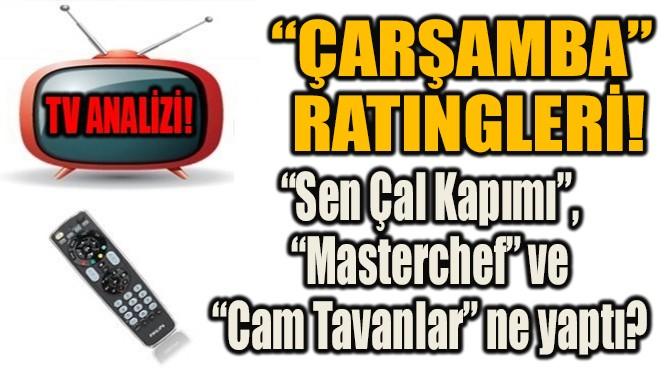 """""""ÇARŞAMBA""""  RATINGLERİ!"""