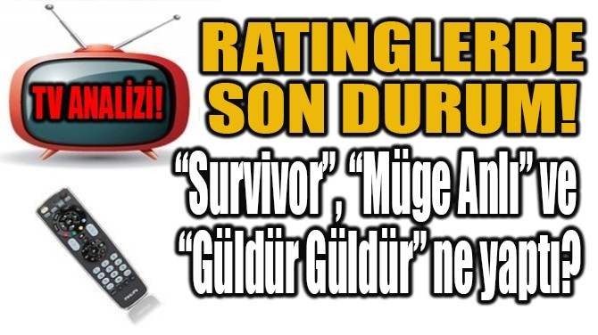 RATINGLERDE  SON DURUM!