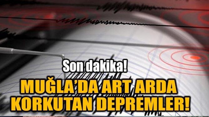 MUĞLA'DA ART ARDA KORKUTAN DEPREMLER