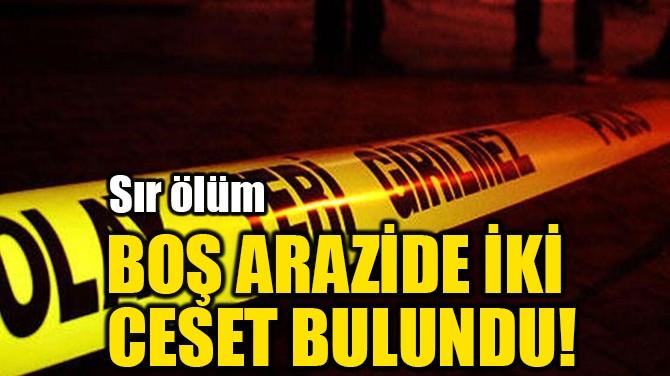 BOŞ ARAZİDE İKİ CESET BULUNDU!