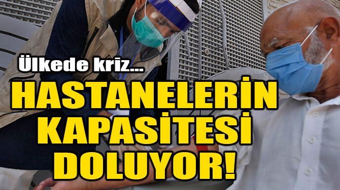 HASTANELERİN KAPASİTESİ DOLUYOR!