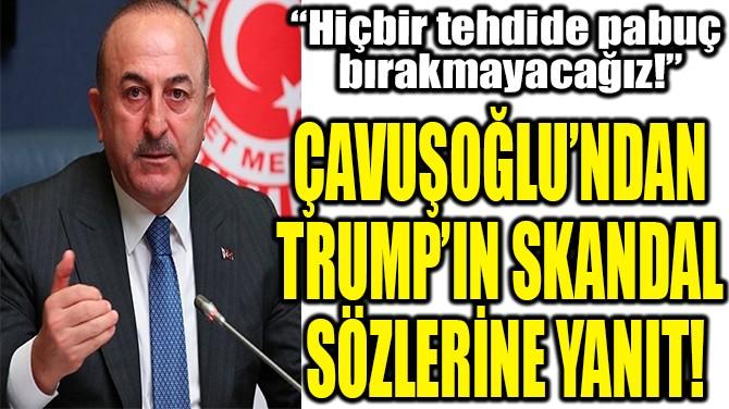 ÇAVUŞOĞLU'NDAN  TRUMP'IN SKANDAL  SÖZLERİNE YANIT!