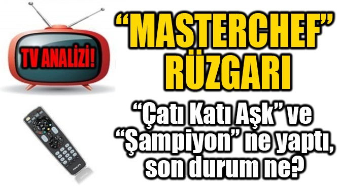"""MASTERCHEF""  RÜZGARI"