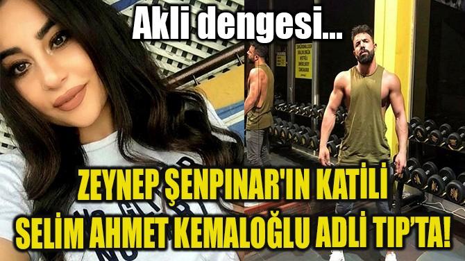ZEYNEP ŞENPINAR'IN KATİLİ SELİM AHMET KEMALOĞLU ADLİ TIP'TA!