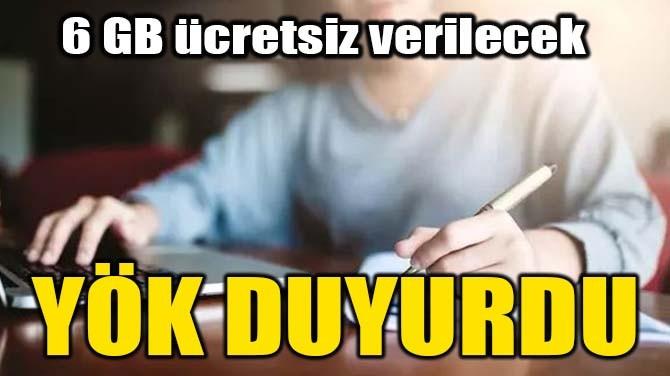 YÖK DUYURDU
