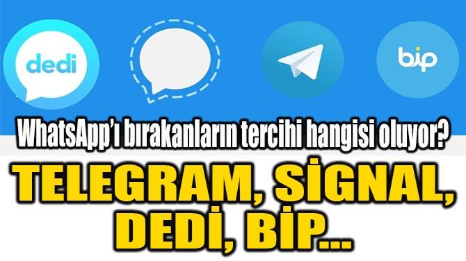 TELEGRAM, SİGNAL, DEDİ, BİP…