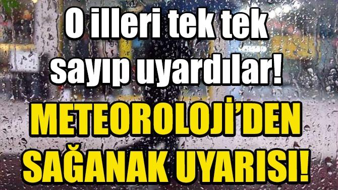 METEOROLOJİ'DEN SAĞANAK UYARISI