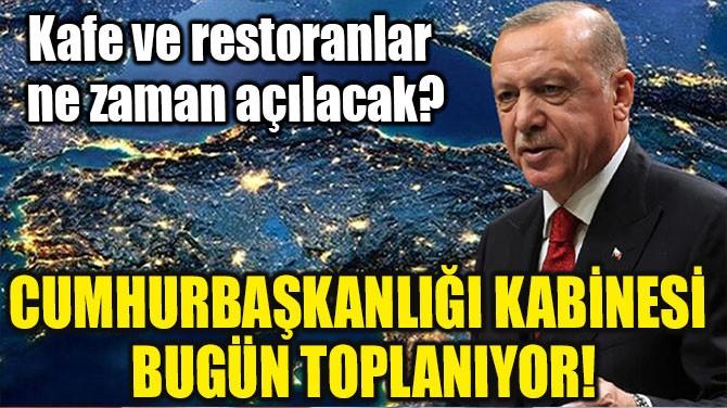 CUMHURBAŞKANLIĞI KABİNESİ BUGÜN TOPLANIYOR!
