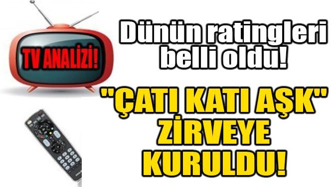 """""""ÇATI KATI AŞK"""" ZİRVEYE KURULDU!"""