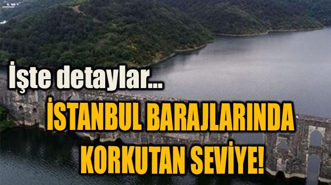 İSTANBUL BARAJLARINDA  KORKUTAN SEVİYE!
