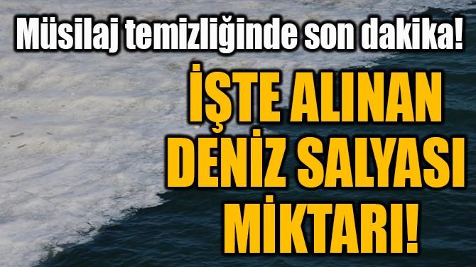 İŞTE ALINAN  DENİZ SALYASI  MİKTARI!