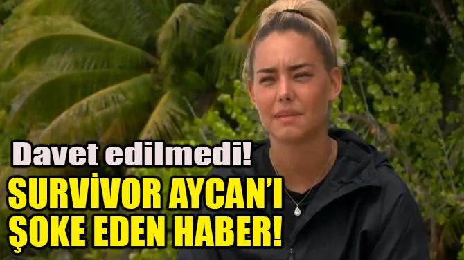 SURVİVOR AYCAN'I ŞOKE EDEN HABER!