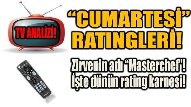 """""""CUMARTESİ"""" RATINGLERİ!"""