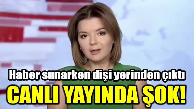 UKRAYNALI SPİKER HABER SUNARKEN DİŞİ YERİNDEN ÇIKTI
