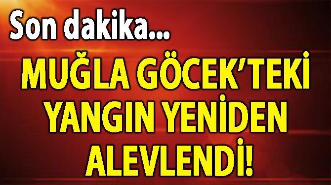 MUĞLA GÖCEK'TEKİ YANGIN YENİDEN ALEVLENDİ!