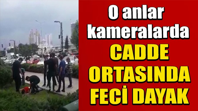 DOLANDIRICILIK İDDİASINA CADDE ORTASINDA FECİ DAYAK KAMERADA