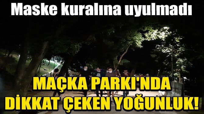 MAÇKA PARKI'NDA DİKKAT ÇEKEN YOĞUNLUK!