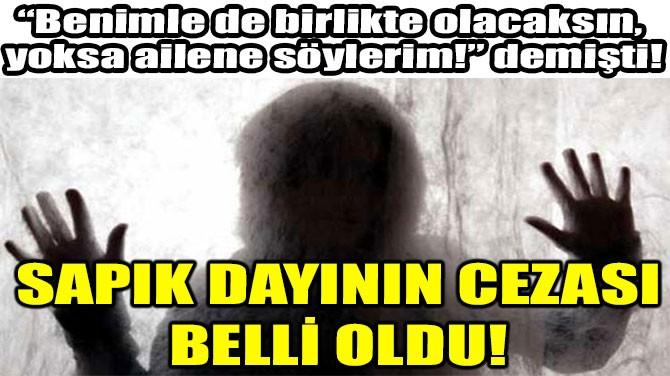 SAPIK DAYININ CEZASI BELLİ OLDU!