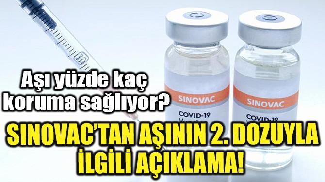 SINOVAC'TAN AŞININ 2. DOZUYLA İLGİLİ AÇIKLAMA!
