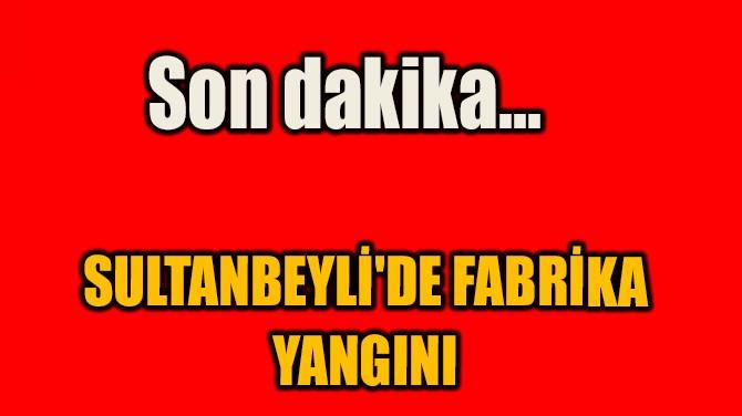 SON DAKİKA... SULTANBEYLİ'DE FABRİKA YANGINI