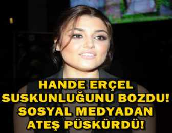 "HANDE ERÇEL ""KÖTÜ NİYET BARINDIRAN KARALAMA KAMPANYASI!"""