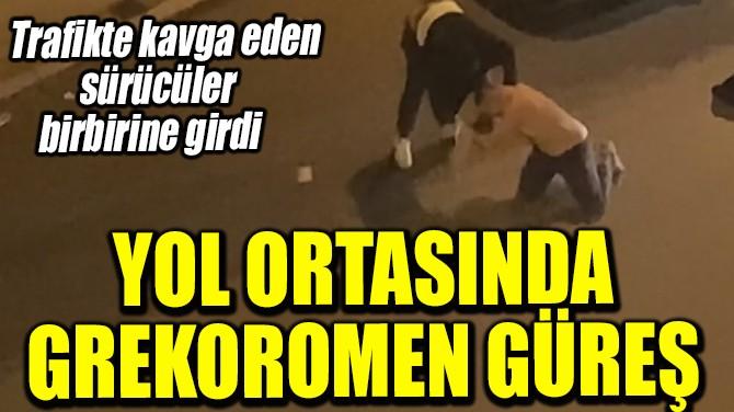 YOL ORTASINDA GREKOROMEN GÜREŞ