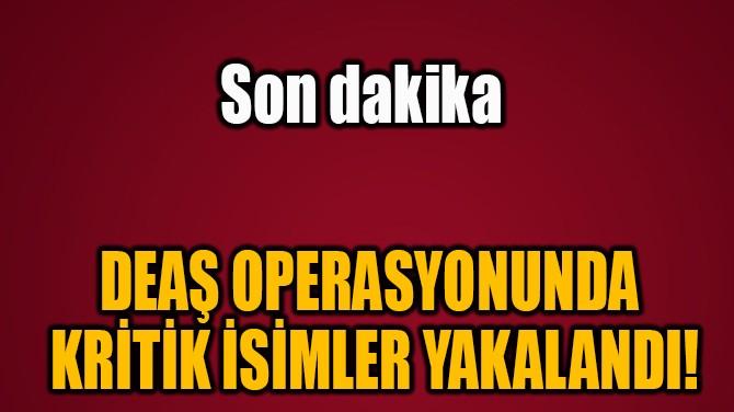 DEAŞ OPERASYONUNDA  KRİTİK İSİMLER YAKALANDI!