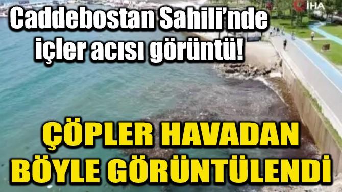 CADDEBOSTAN SAHİLİ'NDE İÇLER ACISI GÖRÜNTÜ!