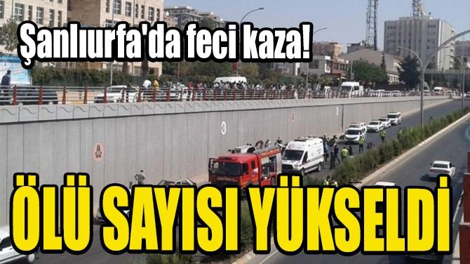 ŞANLIURFA'DA FECİ KAZA!