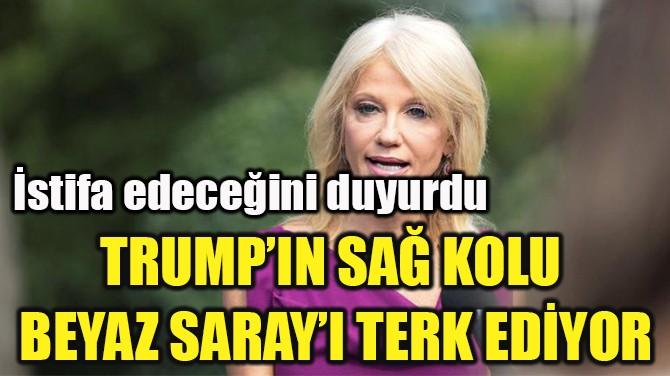TRUMP'IN SAĞ KOLU  BEYAZ SARAY'I TERK EDİYOR