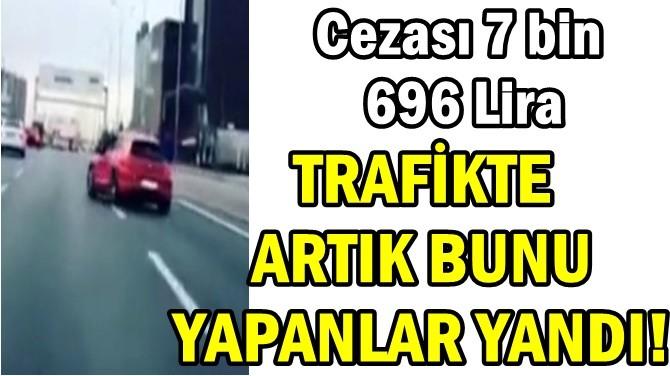 Trafikte Drift Yaptı Cezası 7 bin 696 Lira Oldu