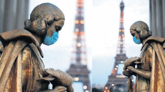 FRANSA'DA SON 24 SAATTE 18 BİN 436 YENİ VAKA