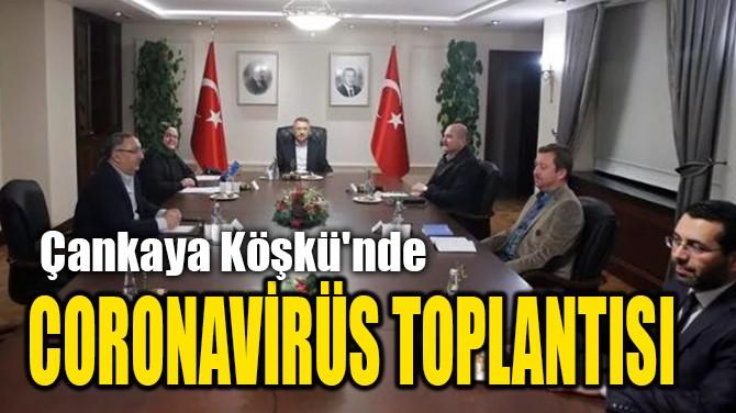 ÇANKAYA KÖŞKÜ'NDE CORONAVİRÜS TOPLANTISI