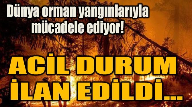 ACİL DURUM  İLAN EDİLDİ...