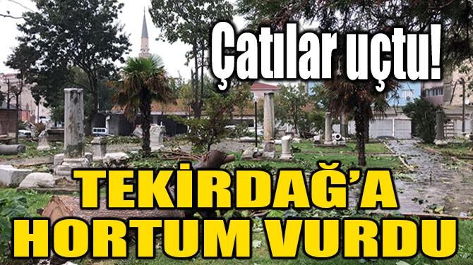TEKİRDAĞ'A HORTUM VURDU
