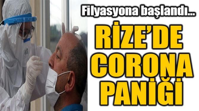 RİZE'DE  CORONA PANİĞİ!