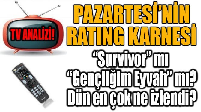 PAZARTESİ'NİN  RATING KARNESİ