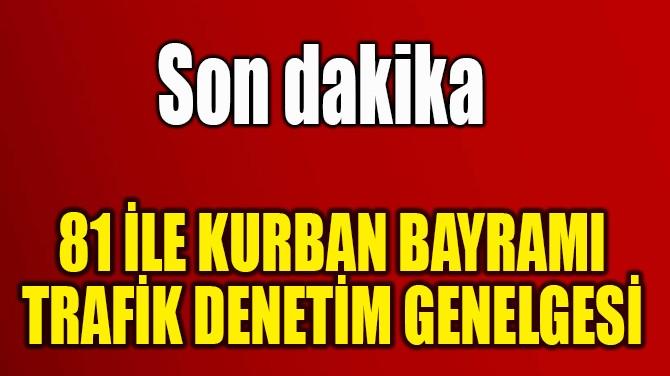 81 İLE KURBAN BAYRAMI  TRAFİK DENETİM GENELGESİ