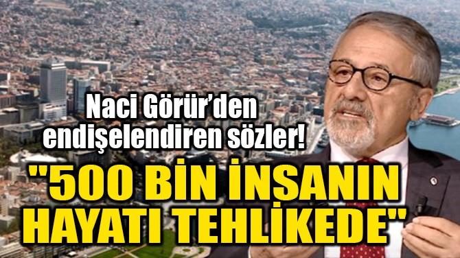 """""""500 BİN İNSANIN HAYATI TEHLİKEDE"""""""