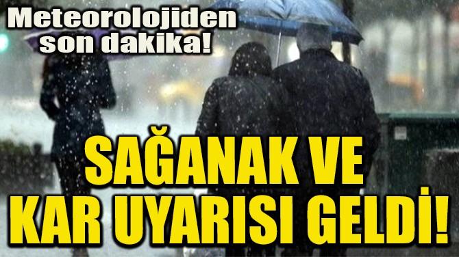 SAĞANAK VE  KAR UYARISI GELDİ!