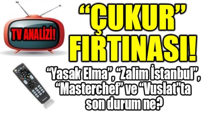 """RATINGLER BELLİ OLDU! """"ÇUKUR"""" FIRTINASI!"""