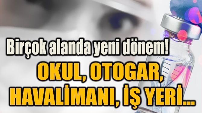 OKUL, OTOGAR,  HAVALİMANI, İŞ YERİ…