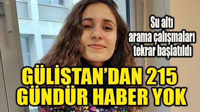 GÜLİSTAN'DAN 215  GÜNDÜR HABER YOK