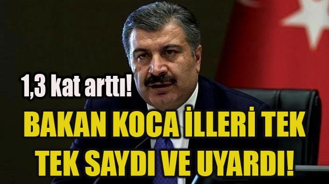 BAKAN KOCA İLLERİ TEK TEK SAYDI VE UYARDI!