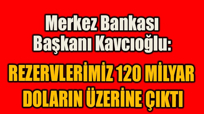 """""""REZERVLERİMİZ 120 MİLYAR  DOLARIN ÜZERİNE ÇIKTI"""""""