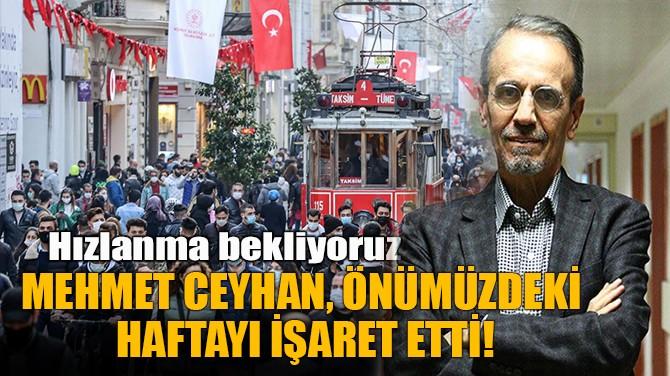 MEHMET CEYHAN,  ÖNÜMÜZDEKİ  HAFTAYI İŞARET ETTİ!