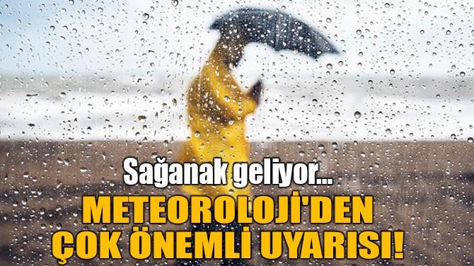 METEOROLOJİ'DEN SON DAKİKA UYARISI!