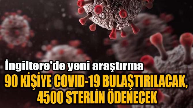 90 KİŞİYE COVID-19 BULAŞTIRILACAK,  4500 STERLİN ÖDENECEK