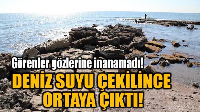 DENİZ SUYU ÇEKİLİNCE  ORTAYA ÇIKTI!